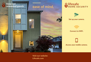 Home Security Service Brochure with House at Sunset Brochure