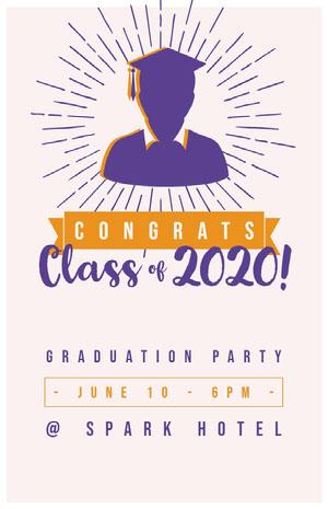 2020! Cartão de graduação