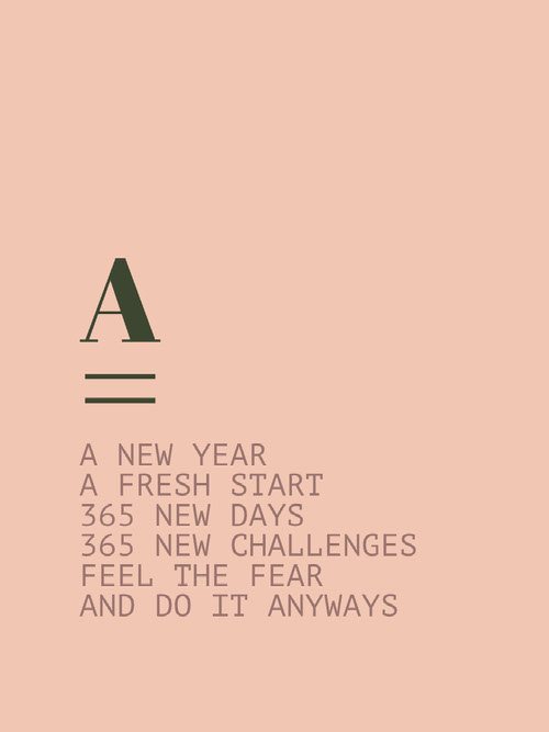 A NEW YEAR A FRESH START kdjoifhsdoiufhvodsnvsvjo NEW DAYS 365 NEW CHALLENGES  FEEL THE FEAR AND DO IT ANYWAYS Messaggi di felice anno nuovo