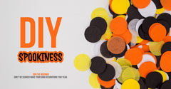 Orange DIY Halloween Decoration Seminar Facebook Post Graphic Seminar Flyer