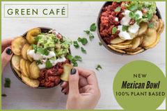 Mexican bowl plant based vegan postcard flyer Plants