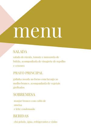 gold embellished wedding menu  Menu