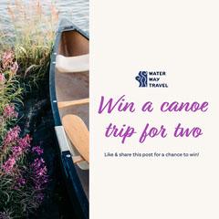 Purple Canoe Trip Instagram Square Boats