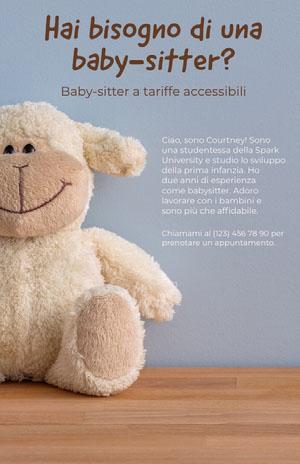 Hai bisogno di una baby-sitter? Volantino aziendale