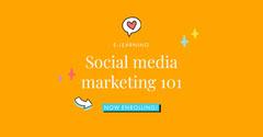 Orange Social Media Marketing Course Linkedin Post Social Media Flyer