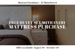 Furniture Store Ad with Bedroom Furniture Sale