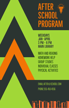 after school poster Tutor Flyer