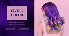 Violet and Pink Hair Style Advertisement Hair Salon