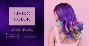 Violet and Pink Hair Style Advertisement Facebook Ads