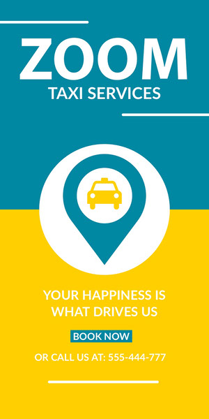 Taxi Service Ad Werbeflyer