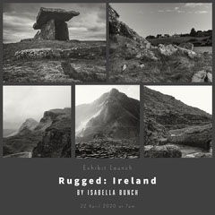 Dark Grey Divider with Black and White Imagery 'Rugged: Ireland' Collage Instagram Graphic Launch