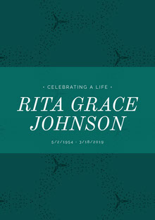 RITA GRACE <BR>JOHNSON Manifesto funerario