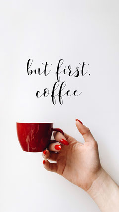 But First Coffee Iphone Wallpaper  Red