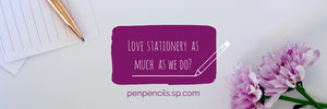 Purple Stationery Shop Horizontal Ad Banner Ads Banner