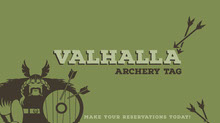 Green and Brown Archery Tag Facebook Banner Portada de Facebook