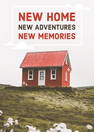 Red and Green New Home Congratulations Card Congratulations Messages