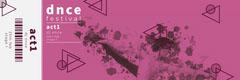 Purple Modern Geometric Dance Music Festival Ticket Event Ticket