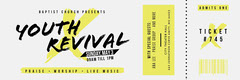 Yellow and White Gospel Event Ticket Event Ticket