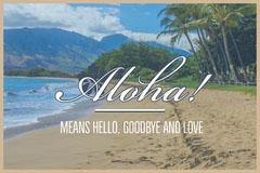 Aloha Hawaii Beach Vacations Travel Postcard Beach