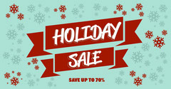 Red And Blue Holiday Sale Facebook Post Holiday Sale