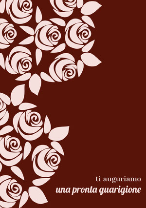 roses get well soon cards Biglietto d'auguri di pronta guarigione