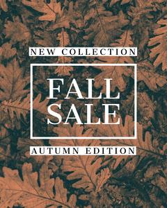 FALL SALE Autumn