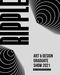black and gray graduate show instagram portrait  Art Show