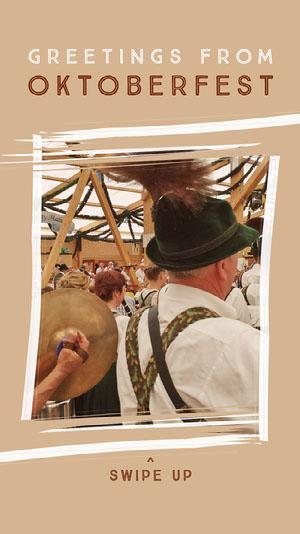 Brown Oktoberfest Social Post Oktoberfest Invitation Templates