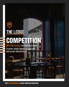 Modern Style Interior Photo Restaurant Contest Instagram Portrait Ad Contest