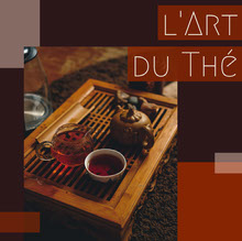 Dark Orange Tea Art Photo Album Cover  Couverture de livre
