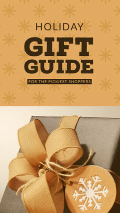 Brown and Grey Gift Guide Social Post Guide
