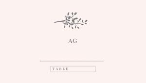 Grey Branch Wedding Place Card Segnaposto