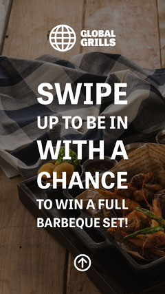 Barbecue Competition Instagram Story with Food Photo Background Contest