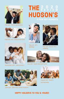 blue orange white family newsletter poster Hochzeitsprogramm