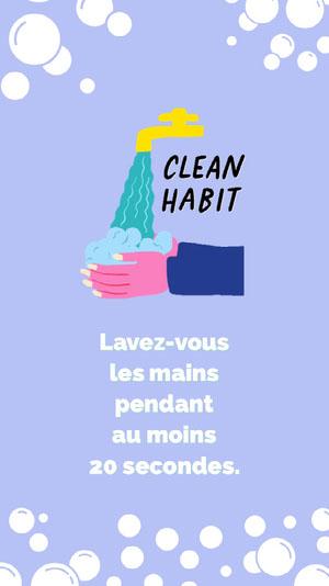 wash your hands instagram story Affiche Lavez-vous les mains