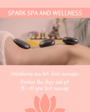 SPARK SPA AND WELLNESS Pink Flyers