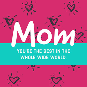 Pink, Blue and White Mothers Day Instagram Post Mother's Day Messages