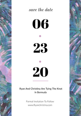 06<BR>23<BR>20 Save the date-kort
