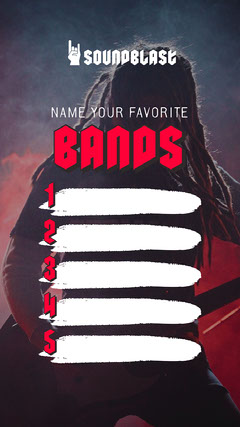 Red Favorite Bands Interactive Instagram Story Band