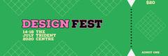 Green Design Event Ticket Event Ticket