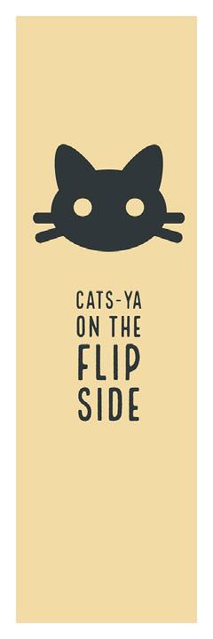 Beige and Black Bookmark Card Cat