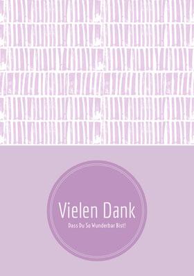 light purple textured thank you cards Danksagungskarte