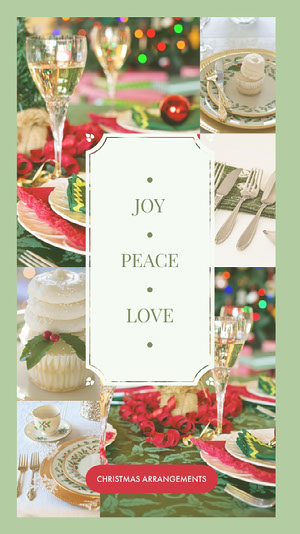 Christmas Arrangements Instagram Story with Collage Holiday Card