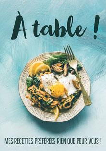 Painted Blue Background Food Photo Album Cover  Couverture de livre