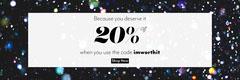 black white glitter 20% off offer web banner Shopping