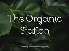 Green Leaves Organic Store Sustainability Facebook Shop Cover  Shopping