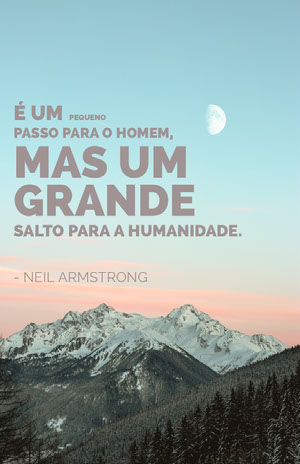 neil armstrong quote poster Pôster motivacional
