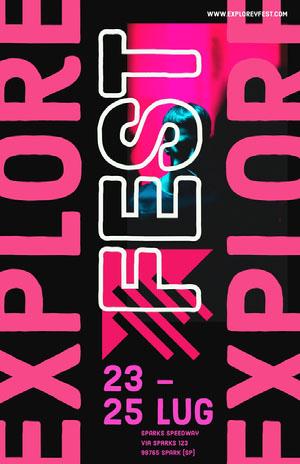 explore fest event poster Poster eventi