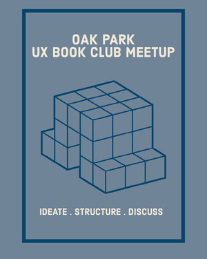 Blue and White Club Meetup Social Post Book Cover