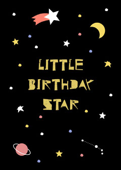 Little Birthday Star Card Stars